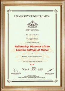 diploma RGT  con cornice